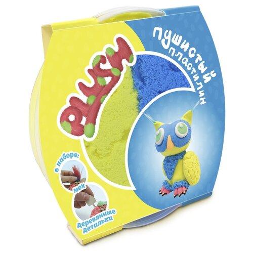 Масса для лепки PLUSH Пушистый синий + желтый 160 гр (PL02201803)
