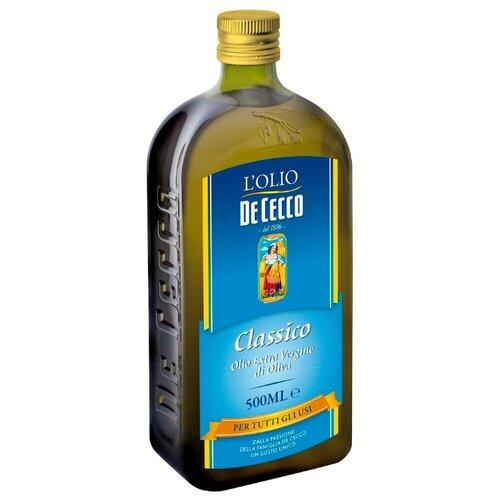 De Cecco Масло оливковое Classico Extra Virgin, стеклянная бутылка 0.5 л de cecco масло оливковое рафинированное 1 л