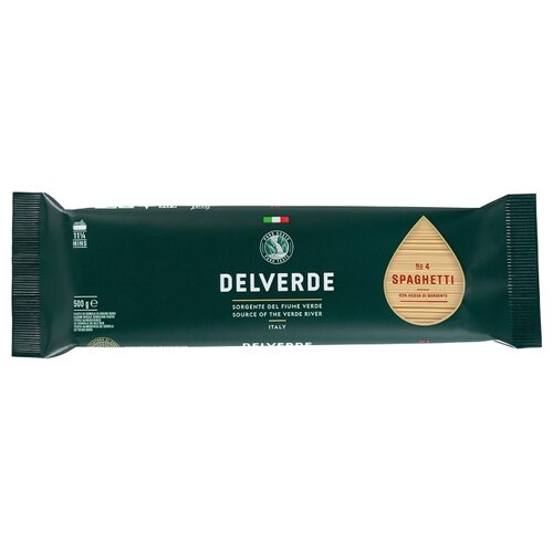 Delverde Industrie Alimentari Spa Макароны № 4 Spaghetti, 500 г макароны delverde spaghetti 141 с отрубями био 500 г