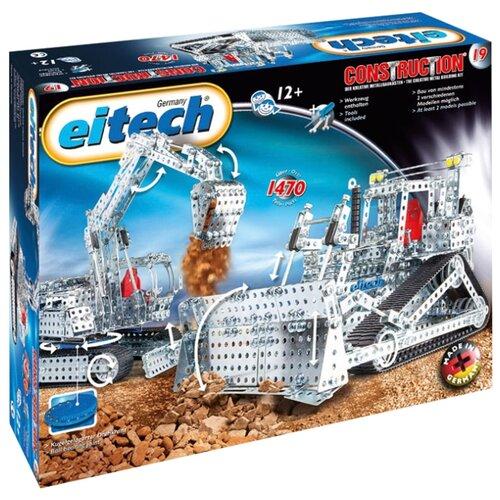 Конструктор Eitech Classic C19 Экскаватор и бульдозер конструктор eitech exclusive c12 космический челнок