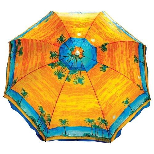 Пляжный зонт Greenhouse UM-T190-3/200 купол 200 см, высота 220 см желтый/оранжевыйЗонты от солнца<br>