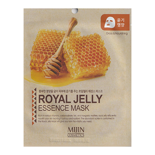 MIJIN Cosmetics тканевая маска Royal Jelly Essence Mask glossing and nourishing с маточным молочком, 25 гМаски<br>
