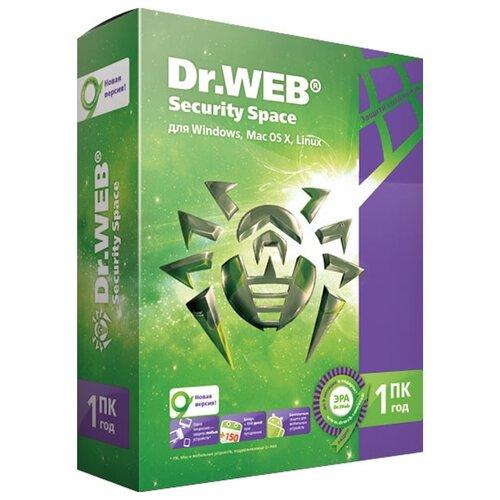 Dr.Web Security Space, коробочная версия, русский, устройств: 1, срок действия: 12 мес.