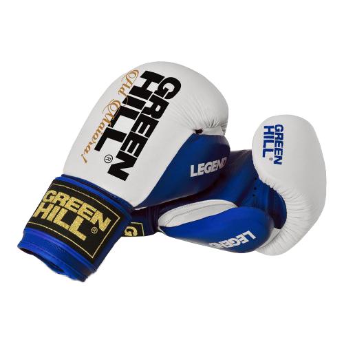 Боксерские перчатки Green hill Legend (BGL-2246) синий/белый 12 oz боксерские перчатки green hill gym bgg 2018 синий 10 oz