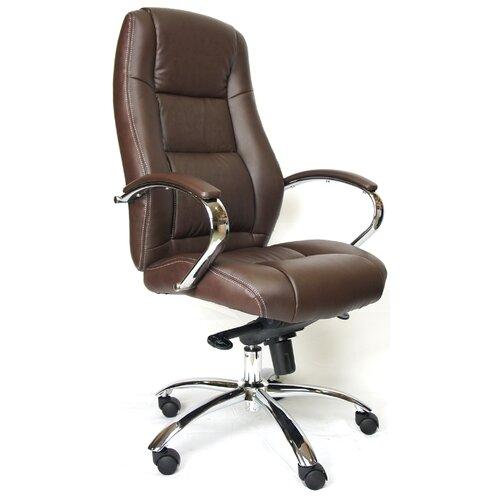 Фото - Компьютерное кресло Everprof Kron M для руководителя, обивка: искусственная кожа, цвет: коричневый компьютерное кресло everprof drift m для руководителя обивка натуральная кожа цвет коричневый