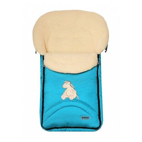 Купить Конверт-мешок Womar North pole в коляску 95 см 8 бирюзовый, Конверты и спальные мешки