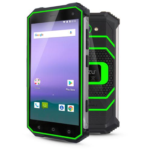 Смартфон Ginzzu RS8502 black/green смартфон