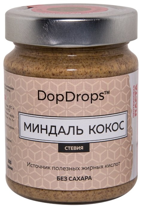 DopDrops протеиновая миндальная паста (265 г)