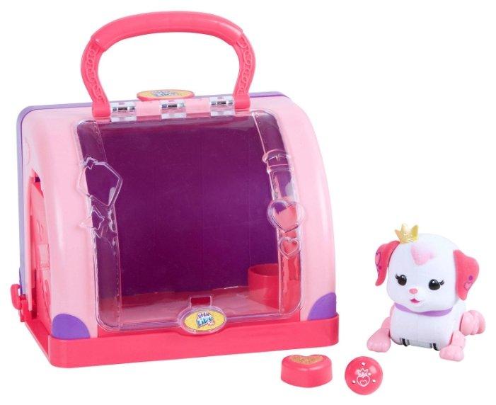 Интерактивная игрушка робот Moose Little Live Pets Щенок принцесса с мячиком и переноской