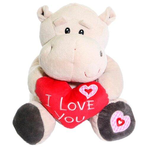 Мягкая игрушка Maxitoys Бегемот Боня с сердцем 23 см