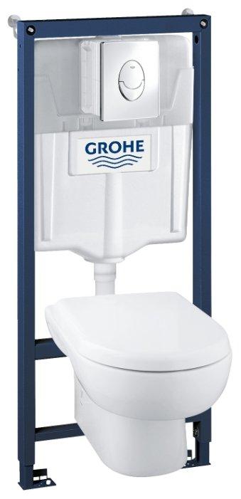 Унитаз с инсталляцией подвесной Grohe Solido 39191000 с горизонтальным выпуском