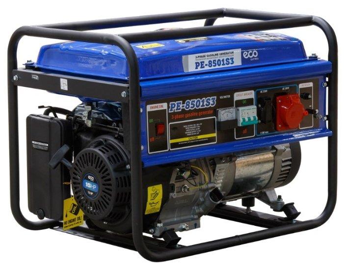 Бензиновый генератор Eco PE 8501S3 (6000 Вт)