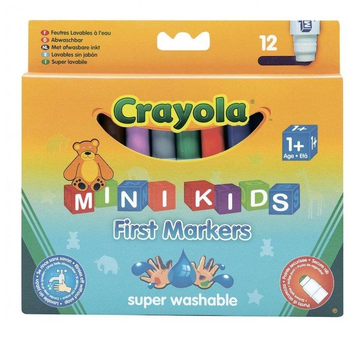Crayola Мини-фломастеры смываемые 12 шт. (8325)
