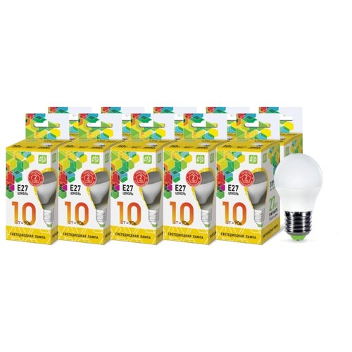 Упаковка светодиодных ламп 10 шт ASD E27, 10ВтЛампочки<br>