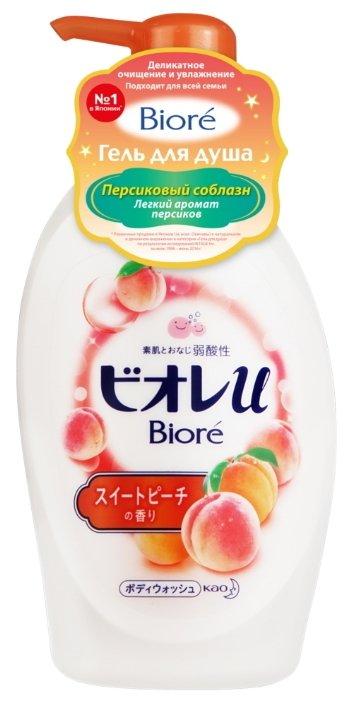 Купить Гель для душа Biore Персиковый соблазн, 480 мл по низкой цене с доставкой из Яндекс.Маркета