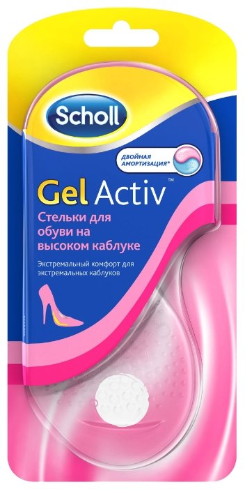 Ортопедическое изделие Scholl Gel Activ р.35-40.5 для обуви на высоком каблуке