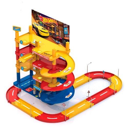 Нордпласт Мега гараж (с дорогой) красный/голубой/желтый/черный/белый, Детские парковки и гаражи  - купить со скидкой