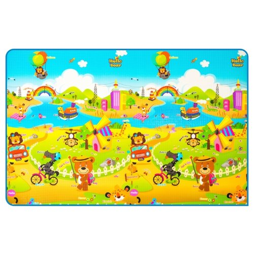 Купить Коврик Parklon Prime Living Мишка на каникулах/Дороги (DS-821-HB-RBHP), Игровые коврики