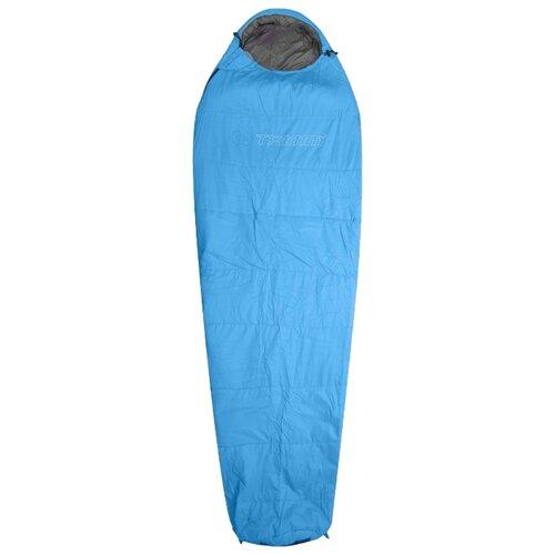 Спальный мешок TRIMM Summer 195 sea blue с левой стороны