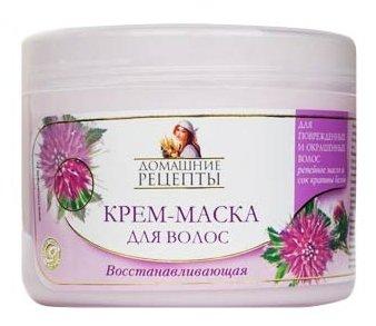 """Домашние рецепты Крем-маска для волос """"Восстанавливающая"""""""