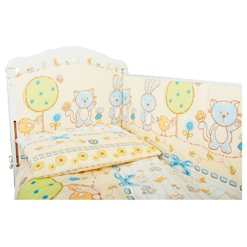 Сонный Гномик комплект Акварель (6 предметов) нежно-голубойПостельное белье и комплекты<br>