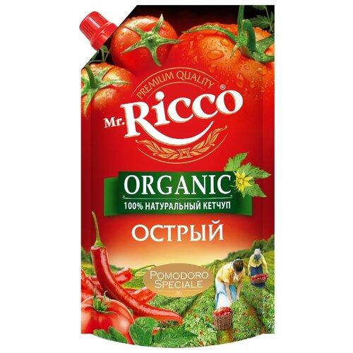 Кетчуп Mr.Ricco Острый organic с перцем чили и чесноком, дой-пак 350 г