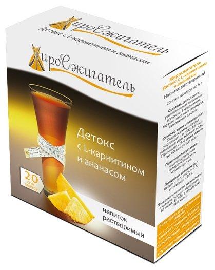 """Жиросжигатель """"Детокс с L-карнитином и ананасом"""" напиток растворимый, 20 стик/п. х 5,0 г"""