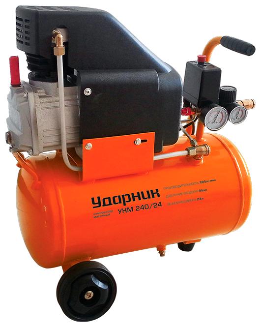 Компрессор масляный Ударник УКМ 240/24, 24 л, 1.5 кВт
