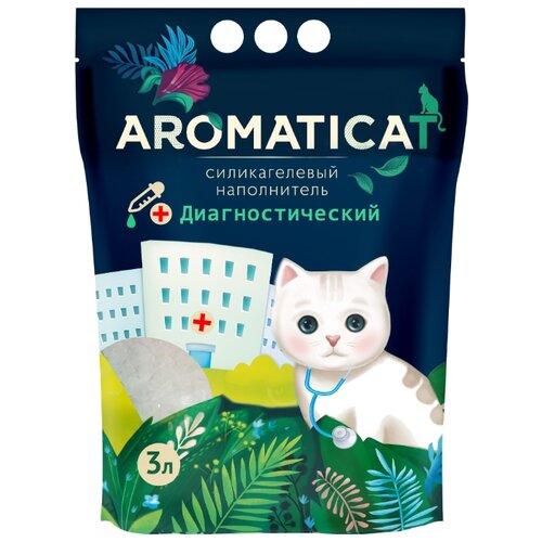 Впитывающий наполнитель AromatiCat Силикагелевый Диагностический 3 л впитывающий наполнитель glamour cats силикагелевый антибактериальный 3 8 л 1 7 кг