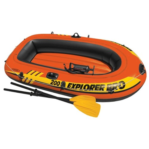 цена на Надувная лодка Intex Explorer-Pro 200 Set (58357) оранжевый