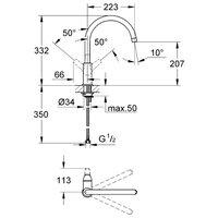 Однорычажный смеситель для кухни (мойки) Grohe BauFlow 31230000