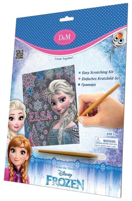 Гравюра D&M Disney Frozen Эльза (65111) цветная основа с голографическим эффектом
