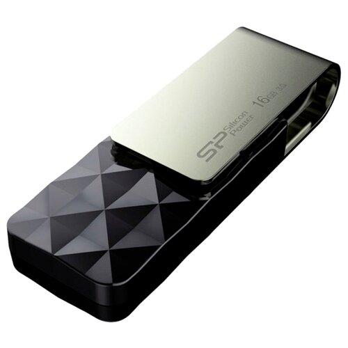 Фото - Флешка Silicon Power Blaze B30 16GB, черный / серебристый флешка silicon power blaze b05 16gb черный