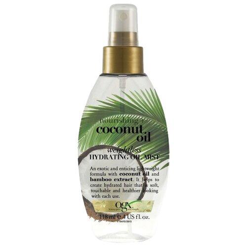 OGX Легкое увлажняющее масло-вуаль для волос с кокосовым маслом, 118 млМаски и сыворотки<br>