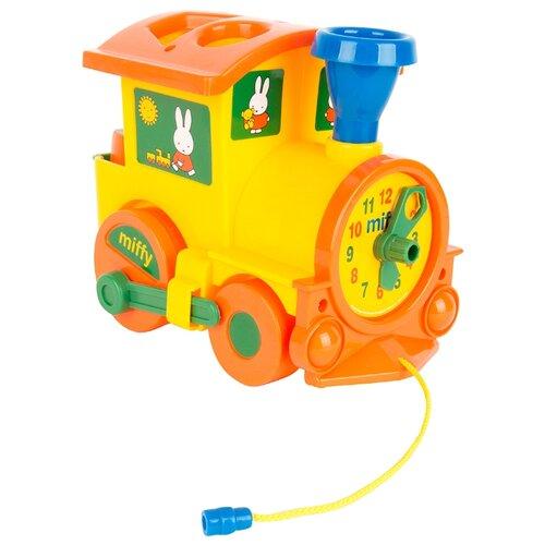Купить Каталка-игрушка Miffy Паровозик логический № 1 (64240) желтый/оранжевый, Каталки и качалки