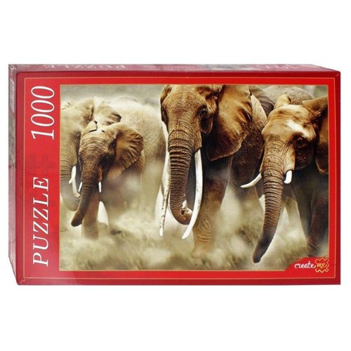 Фото - Пазл Рыжий кот Стадо слонов (КБ1000-6928), 1000 дет. коробка рыжий кот 33х20х13см 8 5л д хранения обуви пластик с крышкой