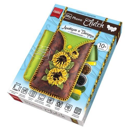Купить Danko Toys Набор для вышивания лентами и бисером My Phone Clutch Подсолнухи (MPCL-01-02), Наборы для вышивания
