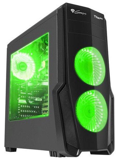 Genesis Компьютерный корпус Genesis Titan 800 Black/green