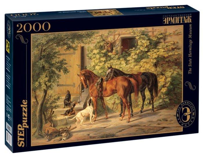 Пазл Step puzzle Русские музеи Лошади у крыльца (84203), 2000 дет.