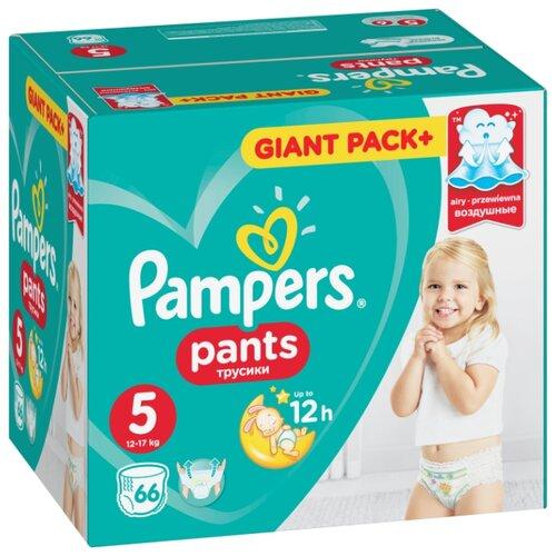 Купить Pampers трусики Pants 5 (12-17 кг) 66 шт., Подгузники