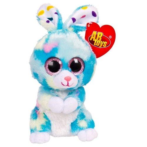 Мягкая игрушка ABtoys Кролик голубой 15 см