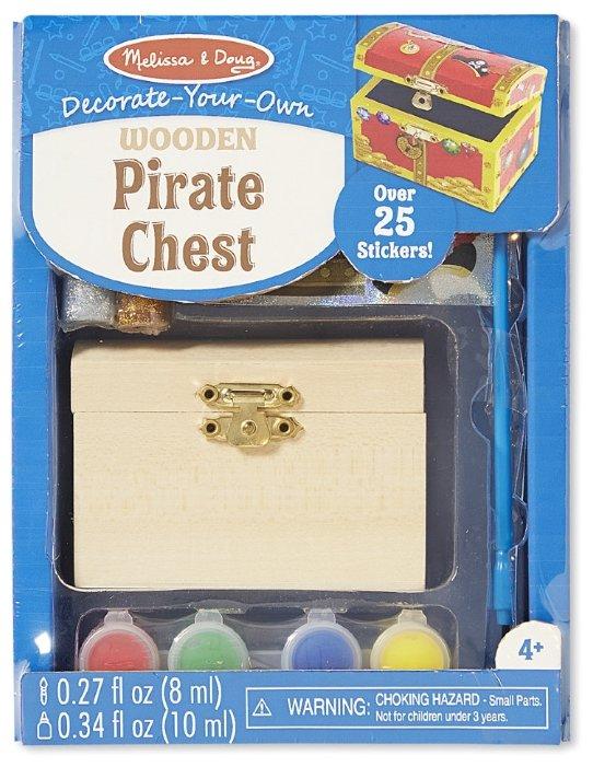 Melissa & Doug Набор для творчества Деревянный пиратский сундук (8851)