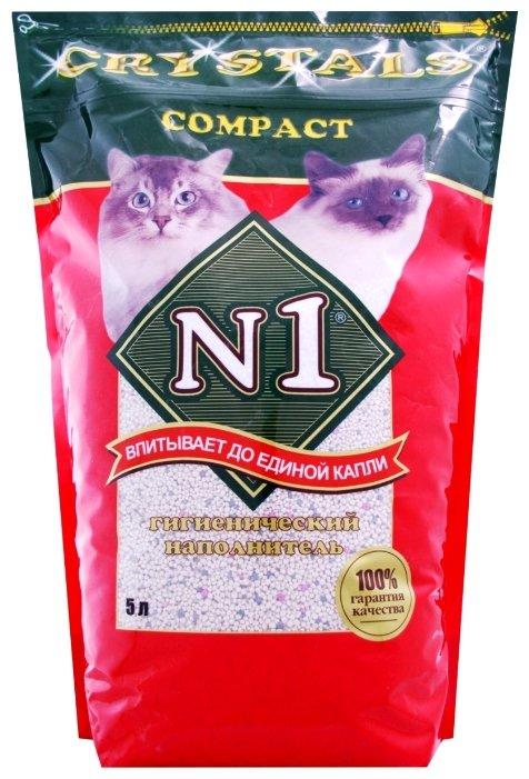 Комкующийся наполнитель N1 Crystals Compact 5 л