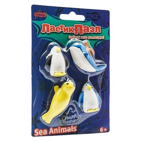 Купить Бумбарам ластик-пазл Морские животные синий / белый / желтый, Ластики