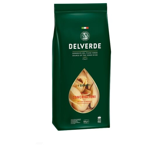 Delverde Industrie Alimentari Spa Макароны I Giganti № 240 Conchiglioni, 500 г