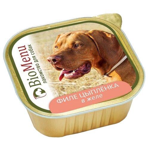 Корм для собак BioMenu (0.15 кг) Adult консервы для собак филе цыпленка в желе