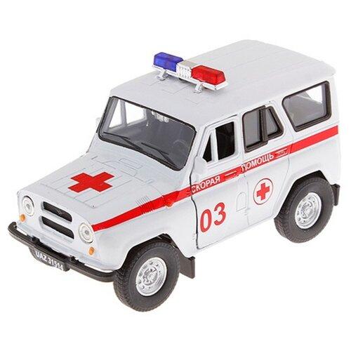 Внедорожник Autotime (Autogrand) УАЗ 31514 скорая помощь (11444) 1:36 13.5 см белый, Машинки и техника  - купить со скидкой
