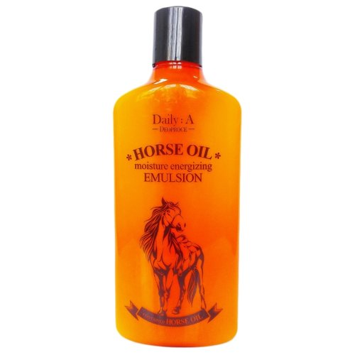 Deoproce Daily:A Horse Oil Moisture Energizing Emulsion Эмульсия для лица с лошадиным жиром, 400 мл