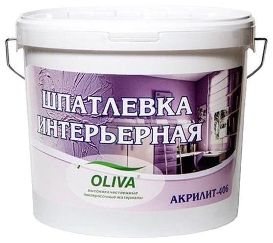 Шпатлевка Олива Акрилит 406 интерьерная