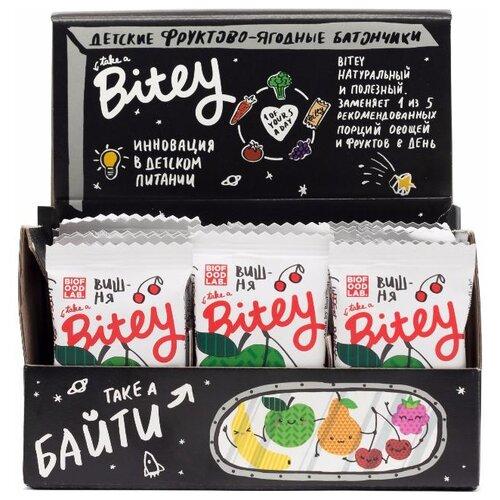 Фруктовый батончик Bitey Box без сахара Яблоко-вишня, 30 шт батончик злаковый fortuche яблоко с корицей 30 шт по 25 г